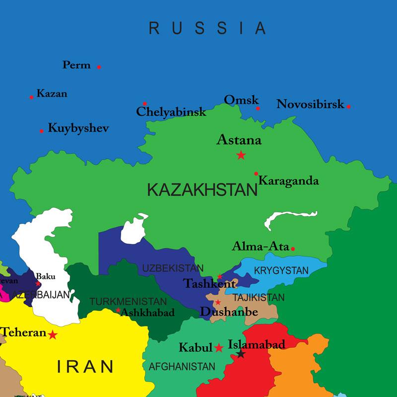 Map Of Asia Kyrgyzstan.Kyrgyzstan Strategeast